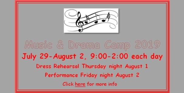 Music and Drama Camp 2019